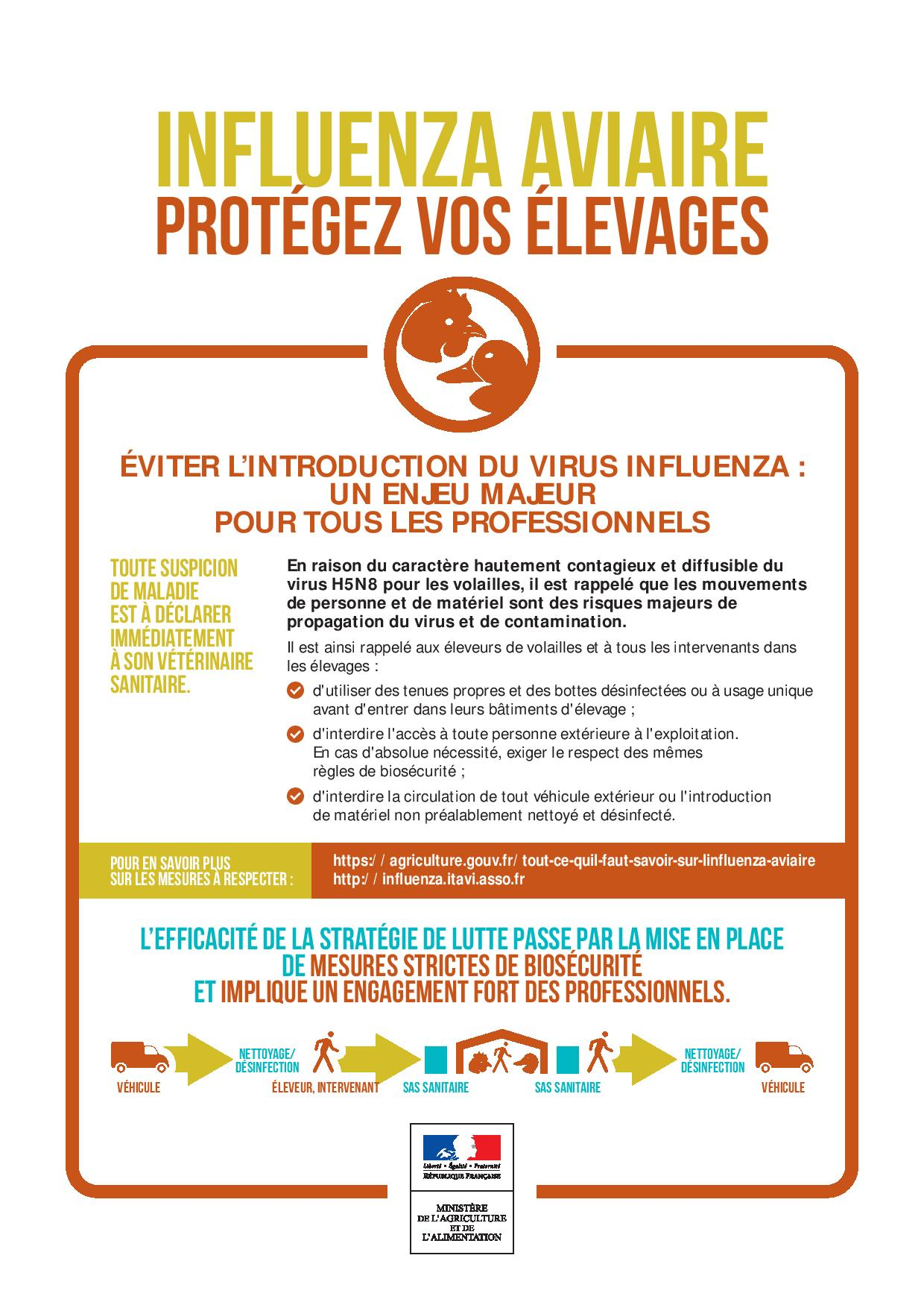 affiche influ aviaire elevages1