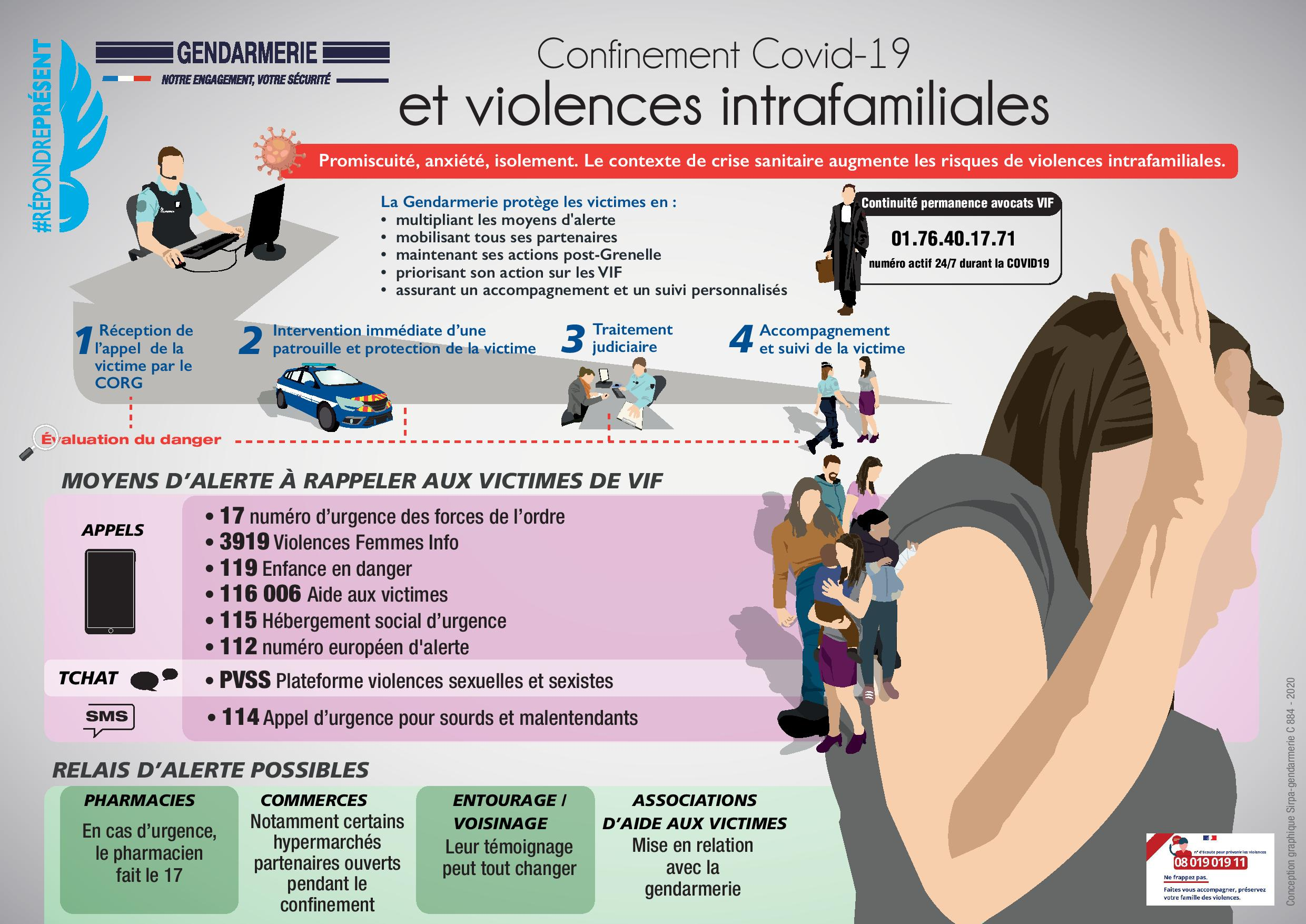 infographie les violences intrafamiliales